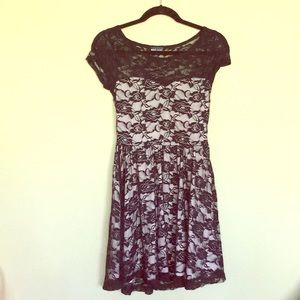 Pastel & Black Floral Dress